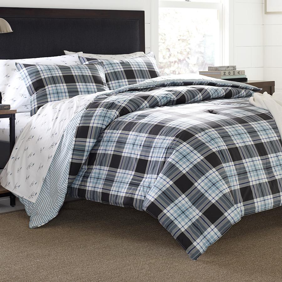 Eddie Bauer Lewis Plaid Comforter And Duvet Set From