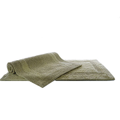 Laura Ashley Leyton Reversible Sage Bath Rug Set