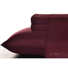 Lingonberry Red Solid Sheet Set