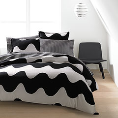 Lokki Black Duvet Set