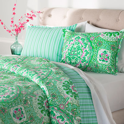 Green Bedding Collections Cool Calm And Serene Bedroom Decor