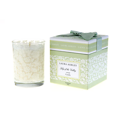 Laura Ashley Lily of the Valley Gift Boxed Candle