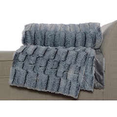 Luxe Gray Throw Blanket