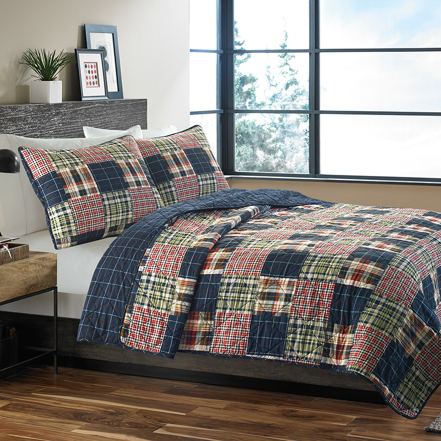 Full Queen Quilt Set Eddie Bauer Madrona