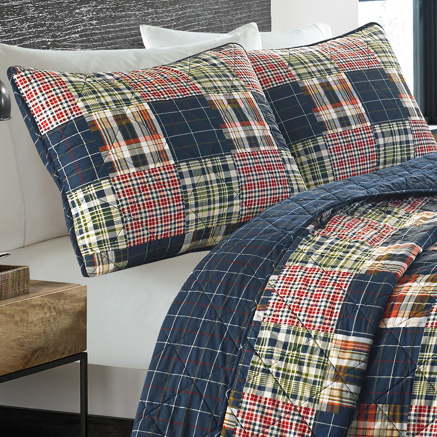 Eddie Bauer Madrona Plaid Quilt Set From Beddingstyle Com