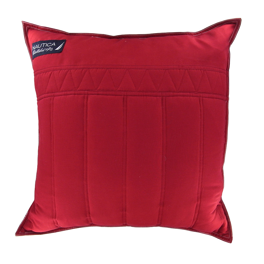 "Nautica Mainsail Red 20"" Square pillow from Beddingstyle.com"