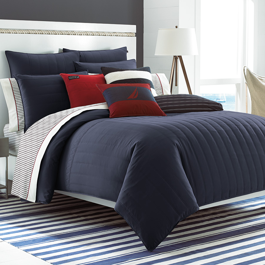 King Comforter Set Nautica Mainsail Navy