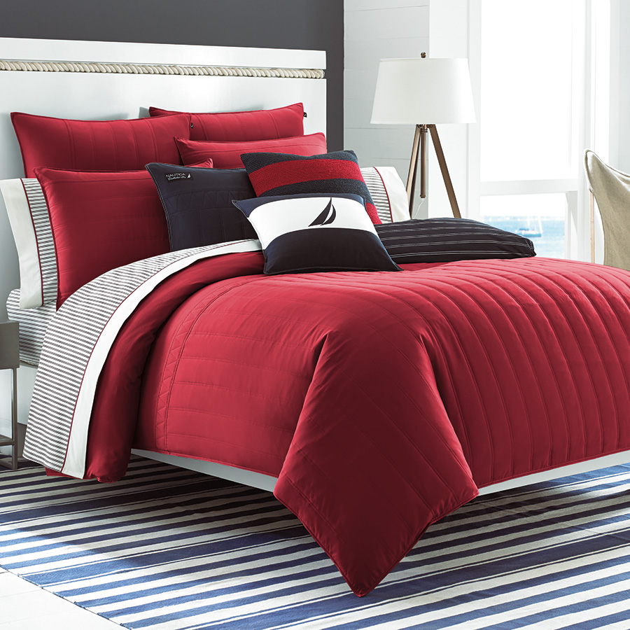 Twin Twin XL Comforter Set Nautica Mailsail Red