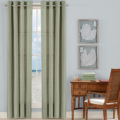 Malone Coast Palm Green Drapes