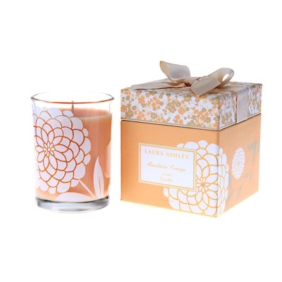 Laura Ashley Mandarin Orange Gift Boxed Candle