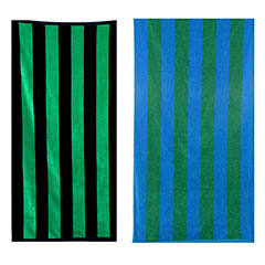Nautica Medium Classic Stripe 2-Piece Beach Towel Set