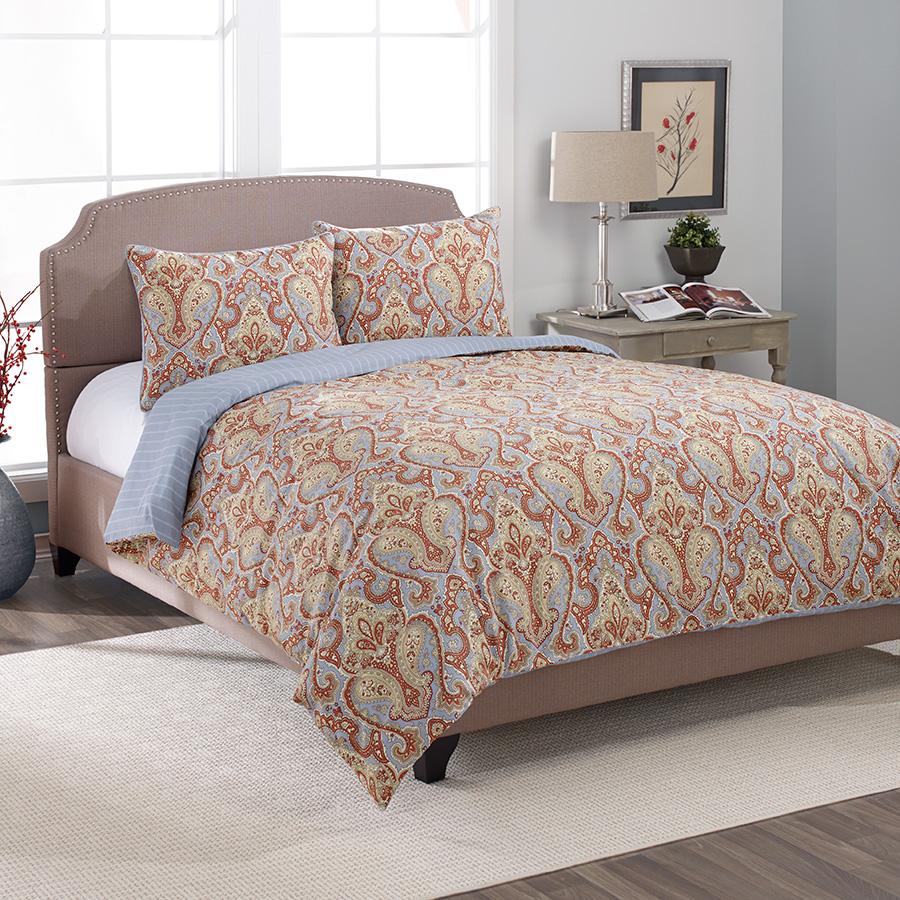 Laura Ashley Megan Paisley Terracotta Comforter Amp Duvet