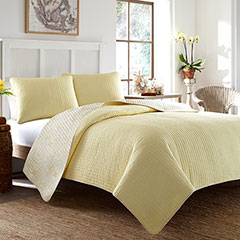 Tommy Bahama Melia Sunset Yellow Quilt Set