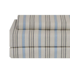 Mercer Stripe Flannel Sheet Set
