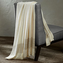 Grove Hill  Metallic Stripe Gold Throw Blanket