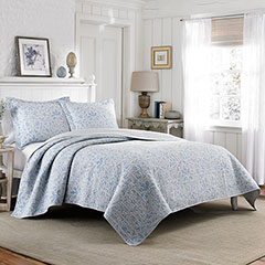 Laura Ashley Mia Pebble Quilt Set
