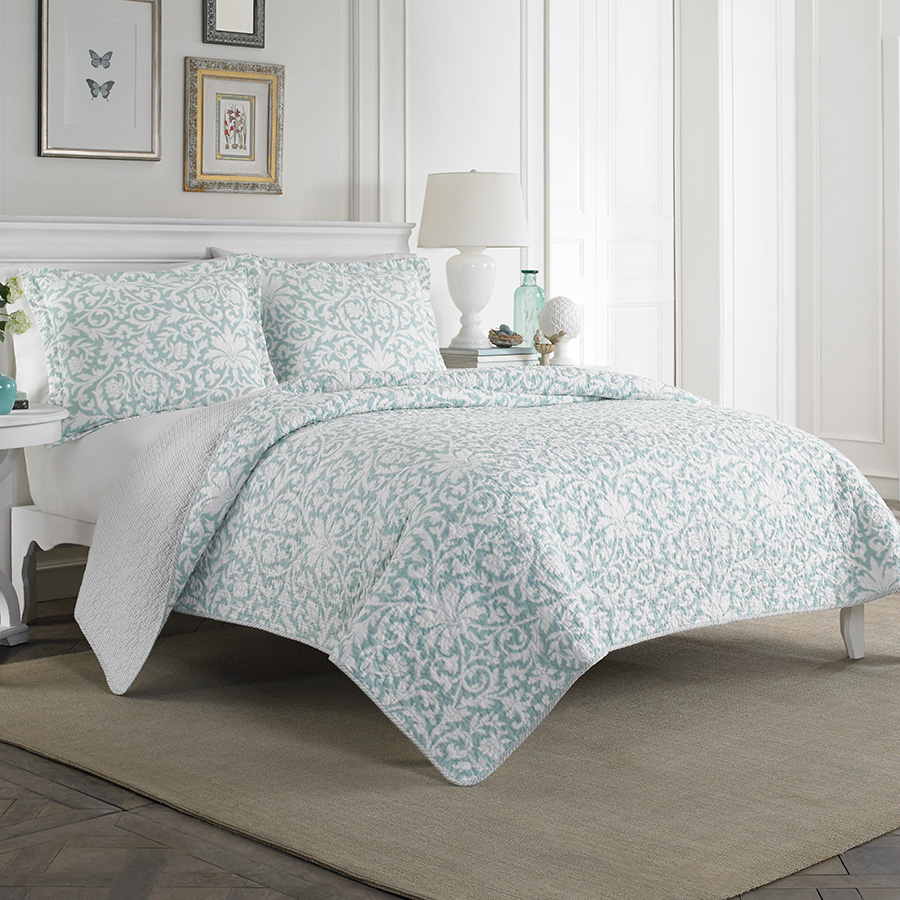 Full Queen Quilt Set Laura Ashley Mia