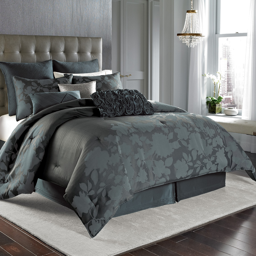 Nicole Miller Midnight Floral Comforter Set From