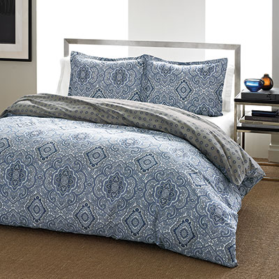 City Scene Milan Blue Comforter & Duvet Set