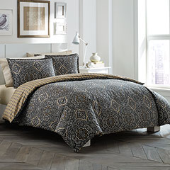City Scene Milan Charcoal Comforter & Duvet Set