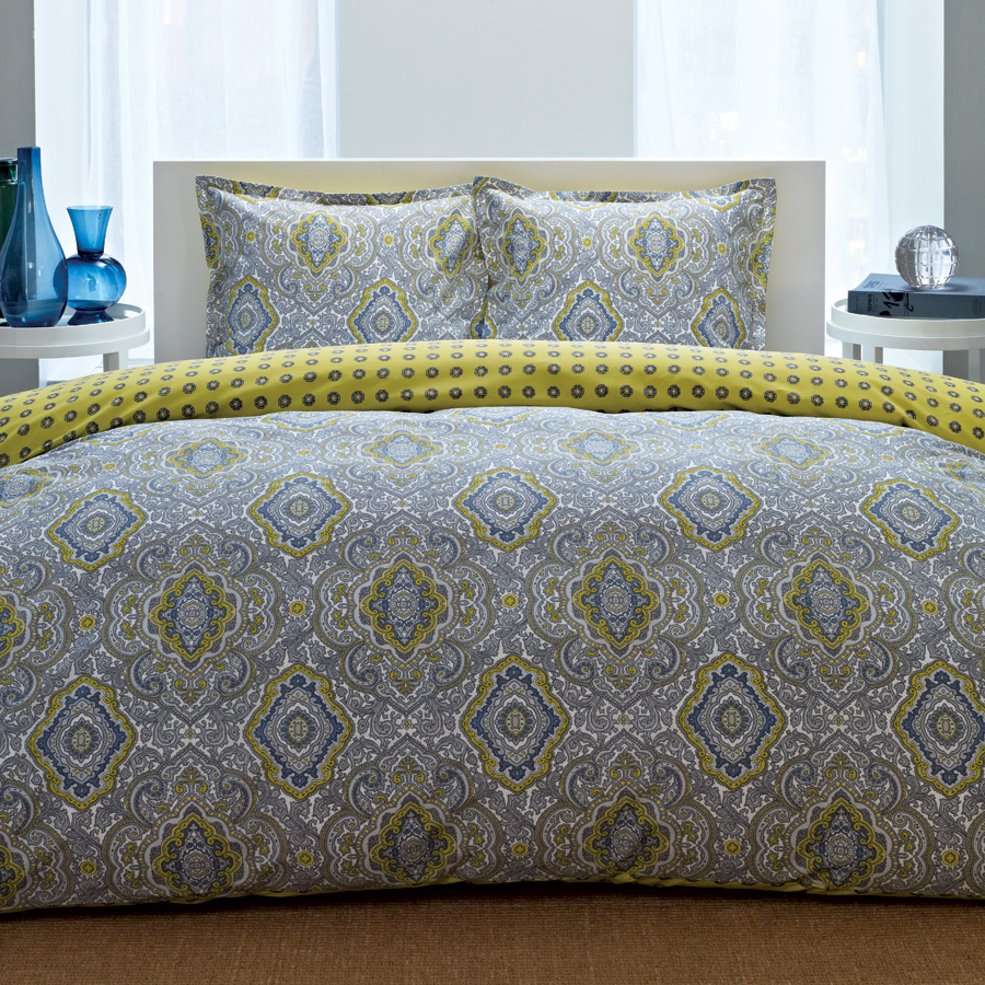 Gray And Yellow Daybed Bedding : City milan bedding collection from beddingstyle