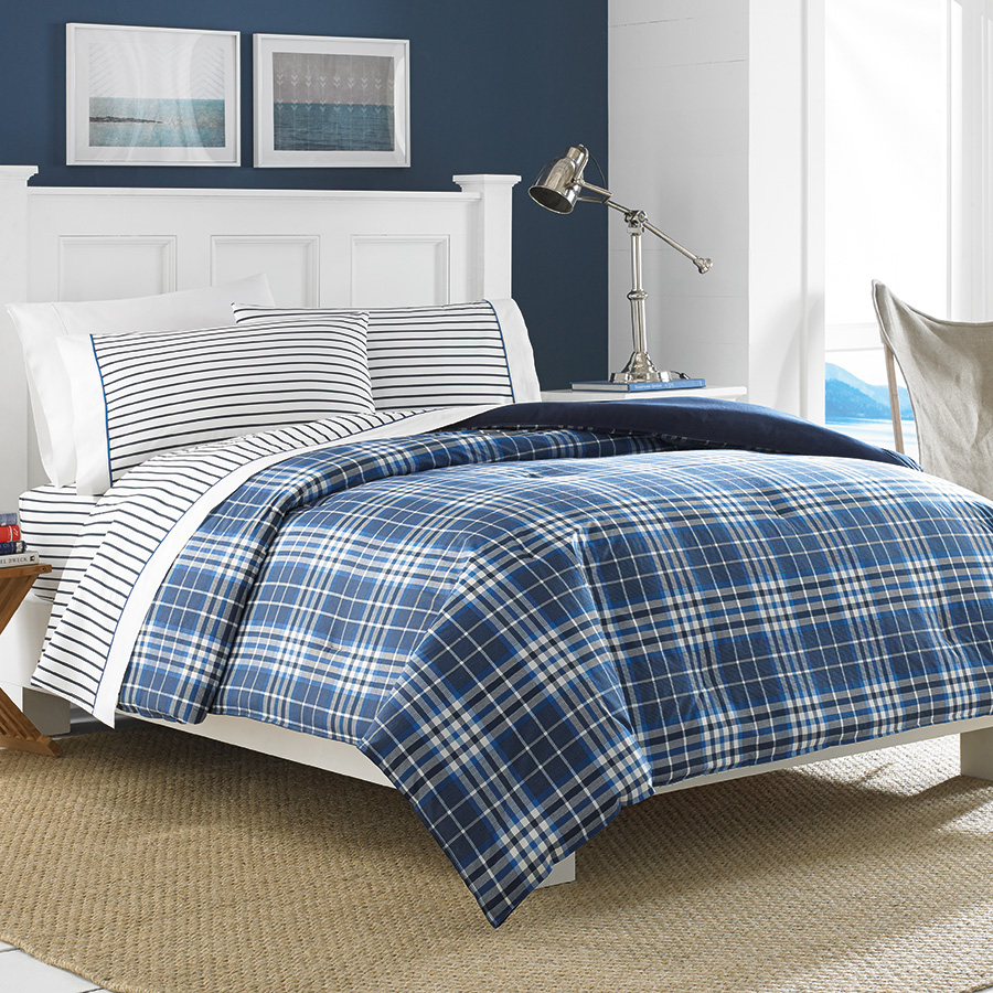 Nautica Millbrook Plaid 5pc King Comforter Set Nip Ebay
