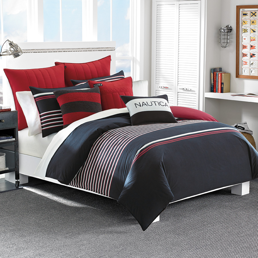 Full Queen Comforter Set Nautica Mineola