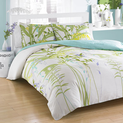 City Scene Mixed Floral Comforter and Duvet Cover Sets