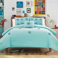 Monica Textured Blue Aqua Comforter Set