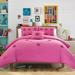 Teen Vogue Monica Textured Mimosa Pink Comforter Set