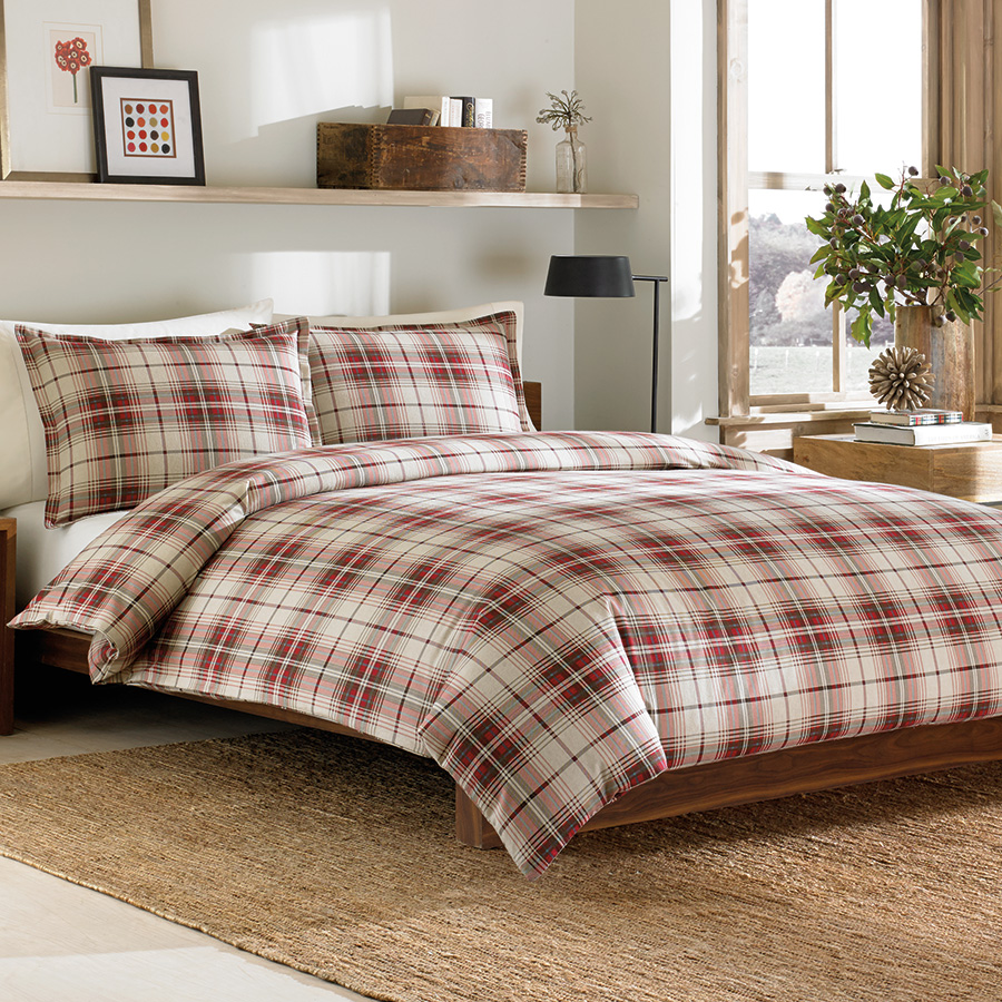 Twin Duvet Set Eddie Bauer Montlake Plaid