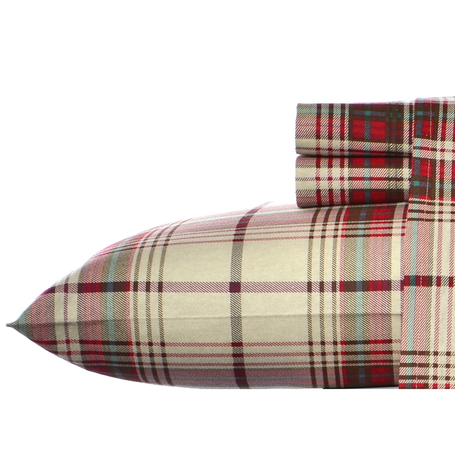 Twin Sheet Set Eddie Bauer Montlake Plaid