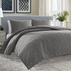 City Scene Moroccan Medallion Gunmetal Quilt Set