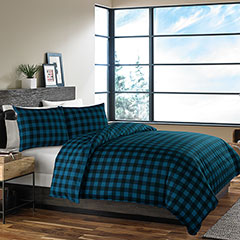 Mountian Plaid Dusted Indigo Comforter & Duvet Set