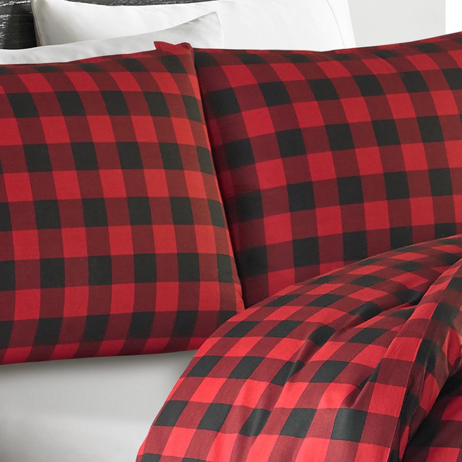 Eddie Bauer Mountain Plaid Scarlet Comforter And Duvet Set
