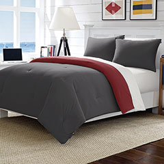 Solid Microfiber Reversible Cloud Comforter Set