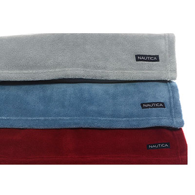Nautica Nautica Solid Fleece Blanket