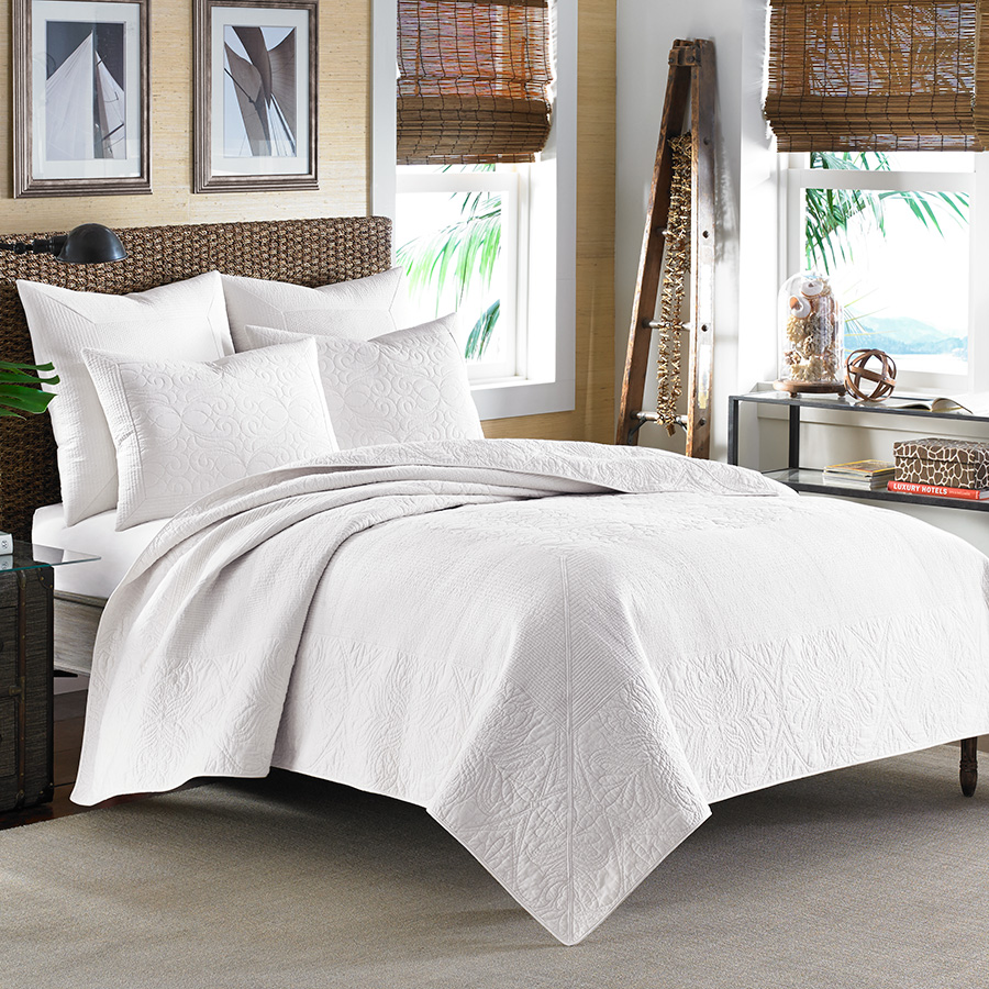 astounding tommy bahama bedroom furniture white | Tommy Bahama Nassau White Quilt Collection from ...