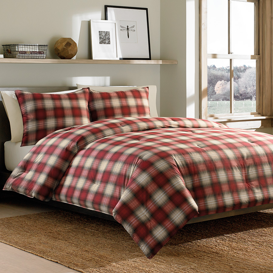 Twin Comforter Set Eddie Bauer Navigation Plaid