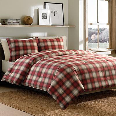 Eddie Bauer Navigation Plaid Comforter Set From