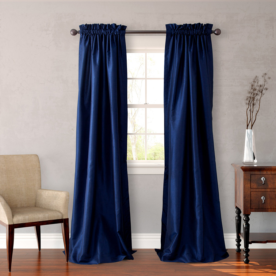 Pair of Drapes 54 x 96 Heritage Landing Navy
