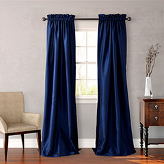Navy Window Treatments
