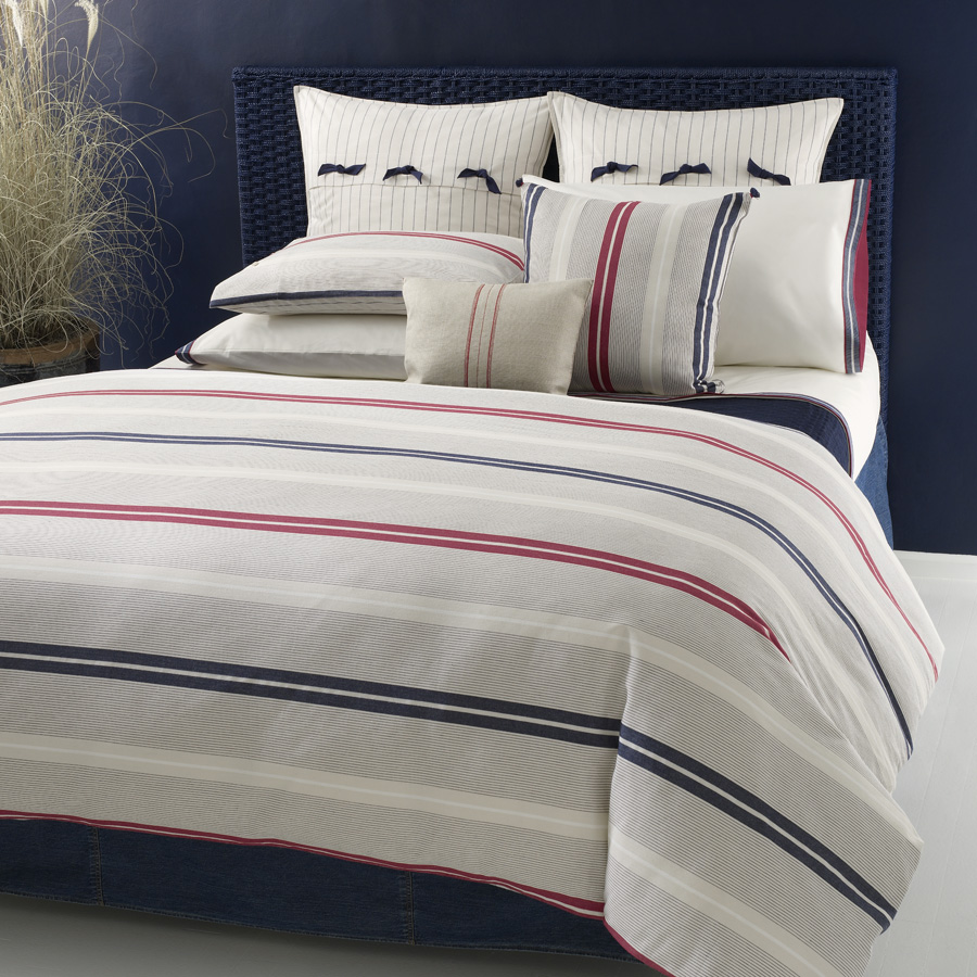 Tommy Hilfiger Newport Bay Striped King Comforter Set Euro