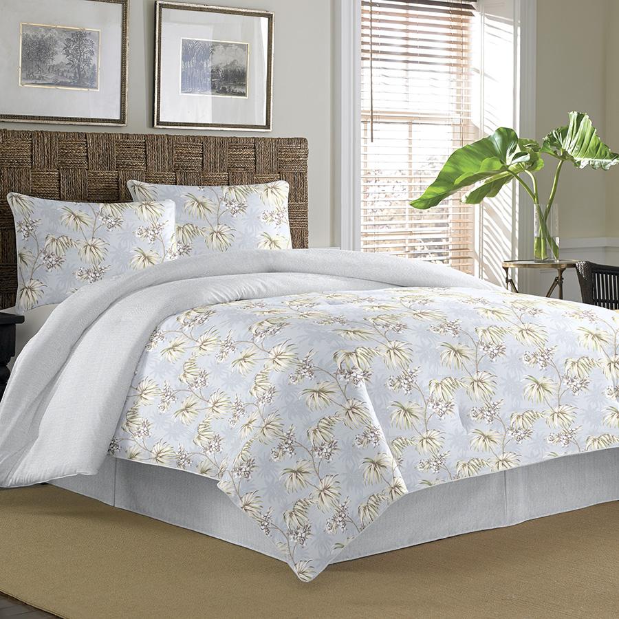 Comforter Silvers: Tommy Bahama Newport Silver Blue Comforter & Duvet Sets