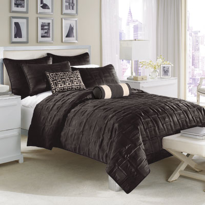 Nicole Miller City Square Black Coverlet