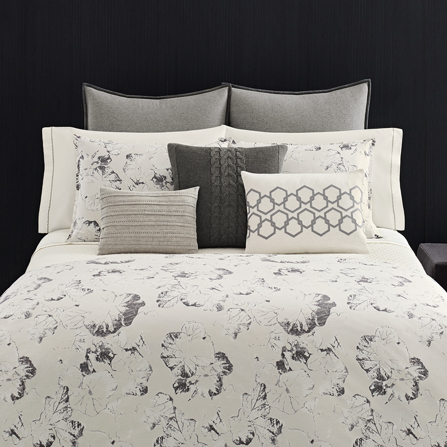Queen Duvet Vera Wang Nordic Leaves