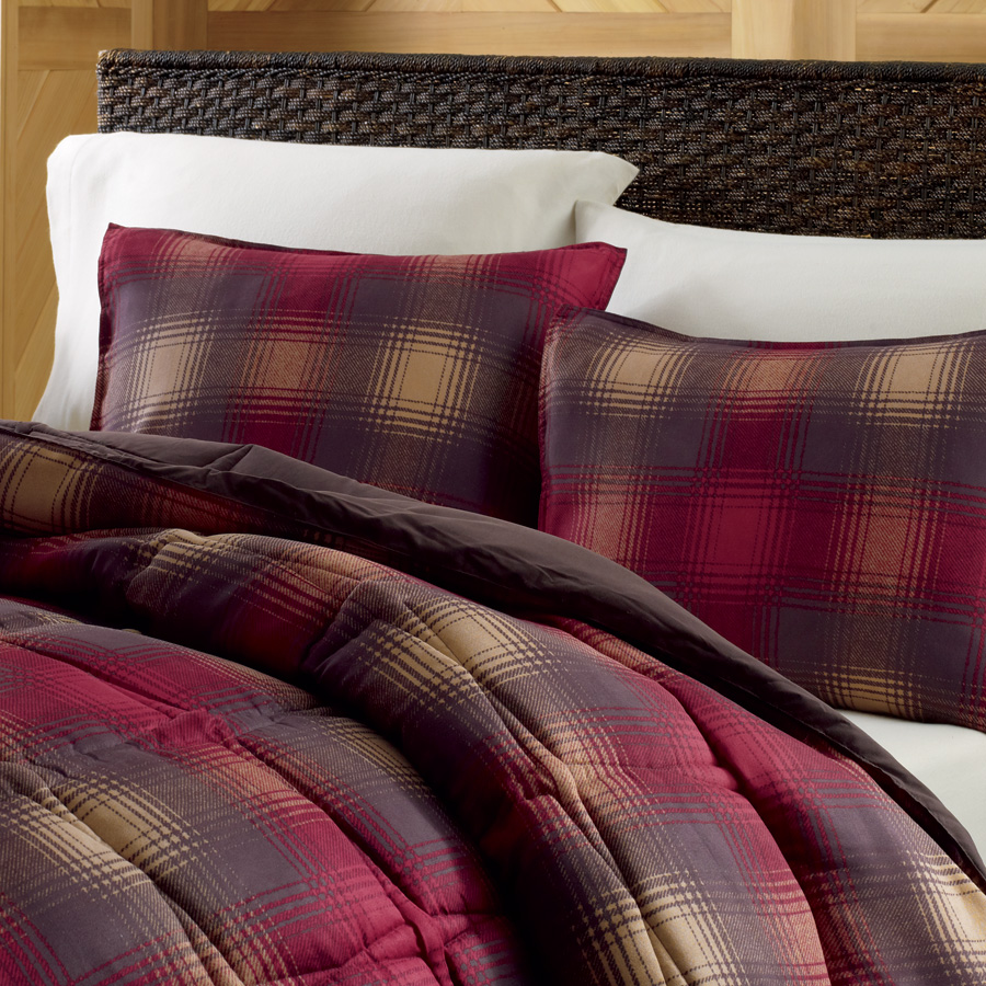 King Comforter Set Eddie Bauer Nordic Plaid Red