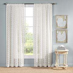 Ocean Club Trellis Ecru Drapes