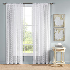 Ocean Club Trellis White Drapes