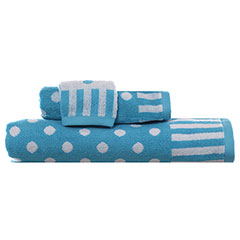 On the Dot Aqua Towel Set